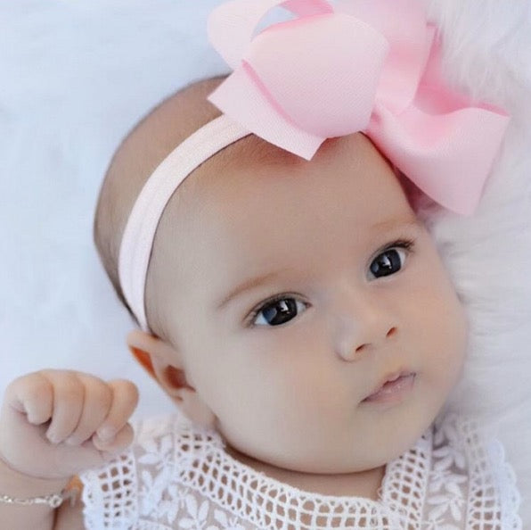Odette medium bow baby headband