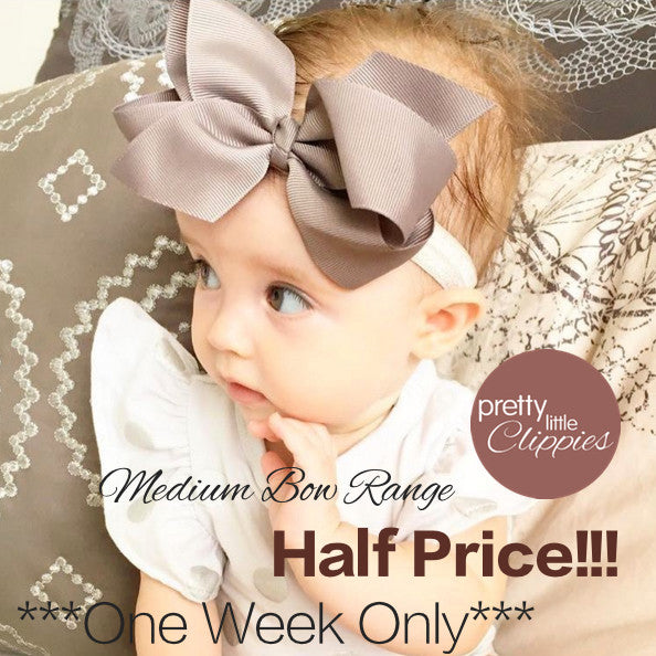 Sale medium bow baby headbands one week only