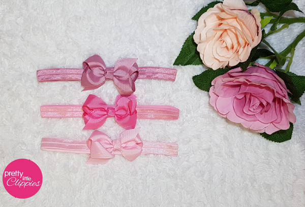Small Baby Headbands Pink
