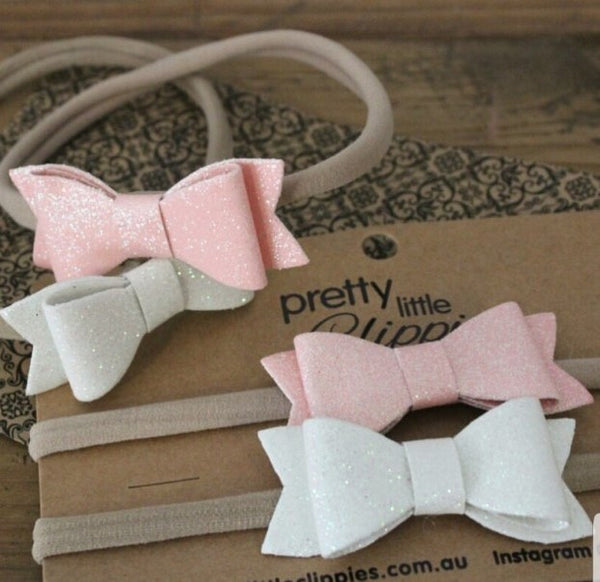 Glitter Bow Baby Headband in five different colours!!!