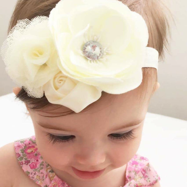 Baby headbands for special occasions, christening, baptism, naming ceremony