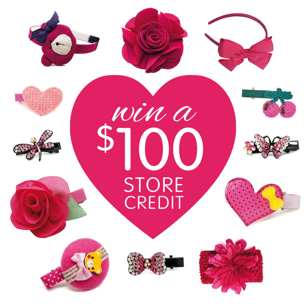 Win $100 to spend on pretty hair accessories for babies, toddlers & little girls!