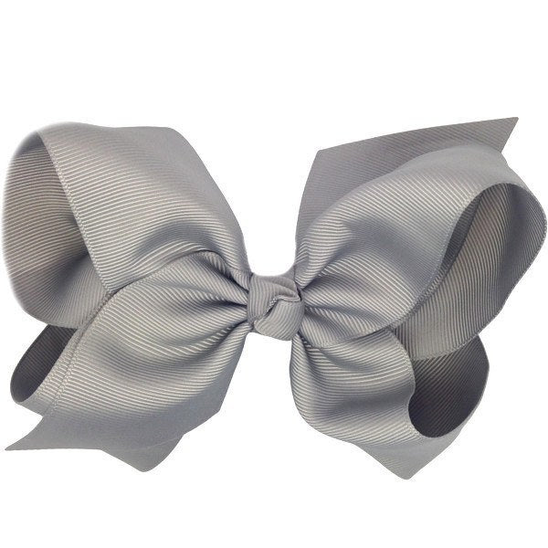 Alessia Grey Big Bow Clip | Hair Clip for Little Girls