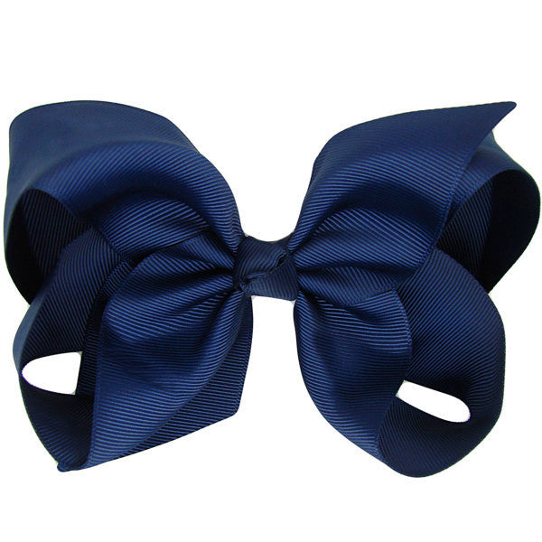 Renee Navy Medium Hair Bow | Hair Clips and Accessories for Girls