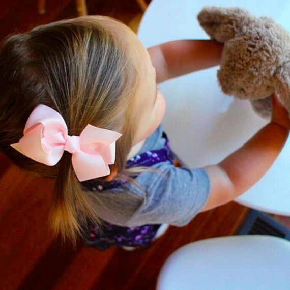 Aubrey baby bow hair clip (by Pretty Little Clippies Australia)