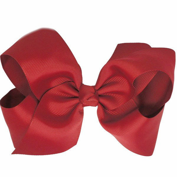 Ayella Wine Red Big Bow Clip Hair Accessory for Girls