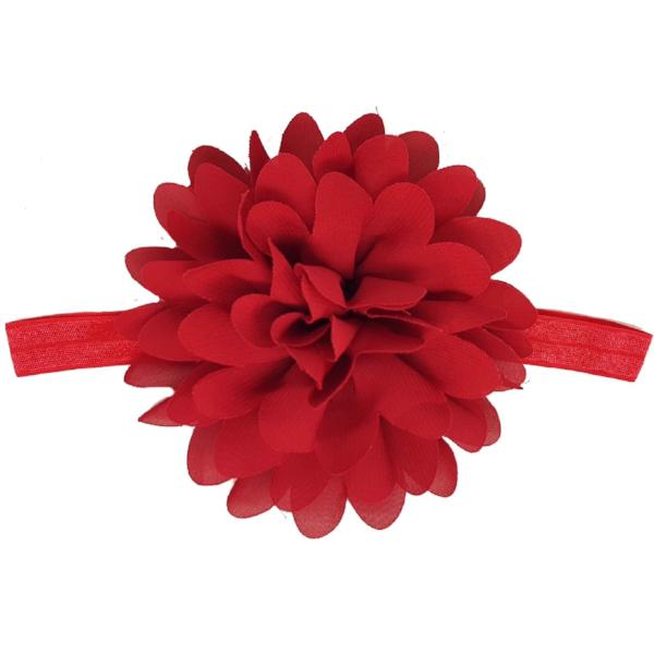 Blossom red flower baby headband