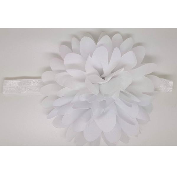 Blossom white flower baby headband