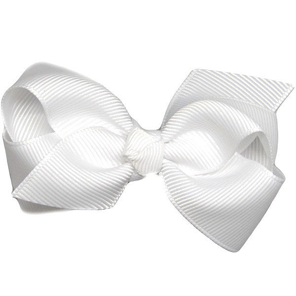 toddler little girl hair accessories white bow clips medium