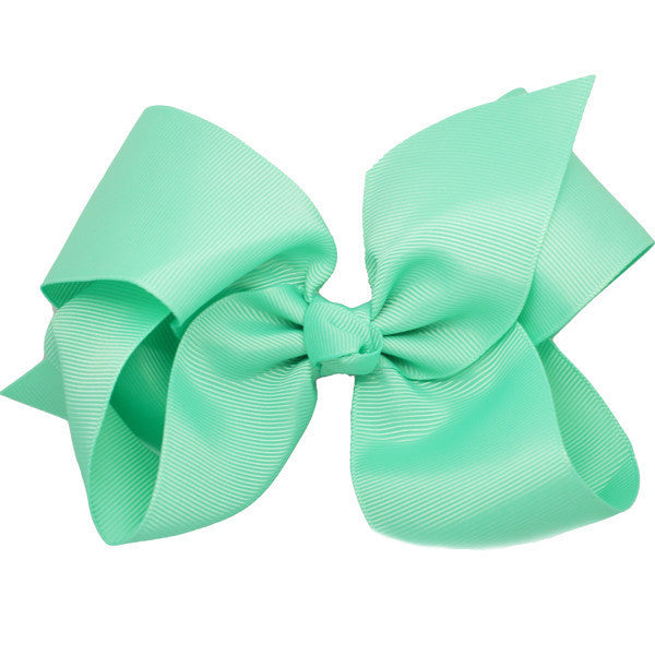 Briony Aqua Medium Hair Bow | Hair Clips and Accessories for Girls