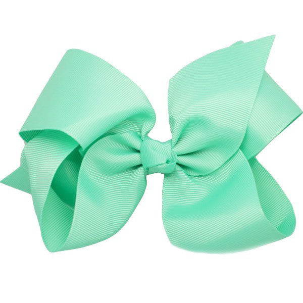 Bridget Aqua Big Bow Hair Clip & Accessory for Toddlers & Girls