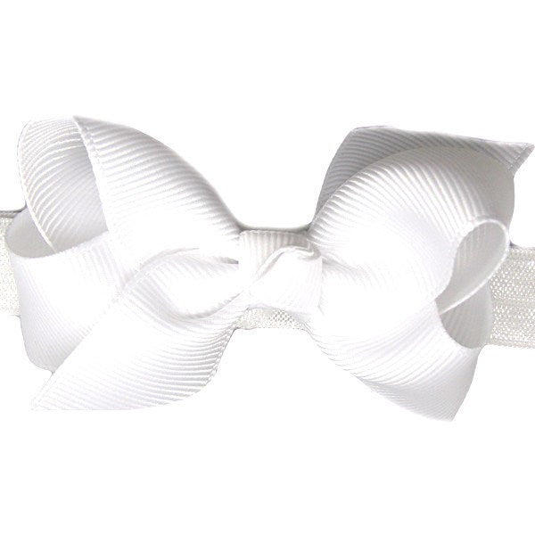 Bronte White Small Bow Baby Headband | Beautiful Bows