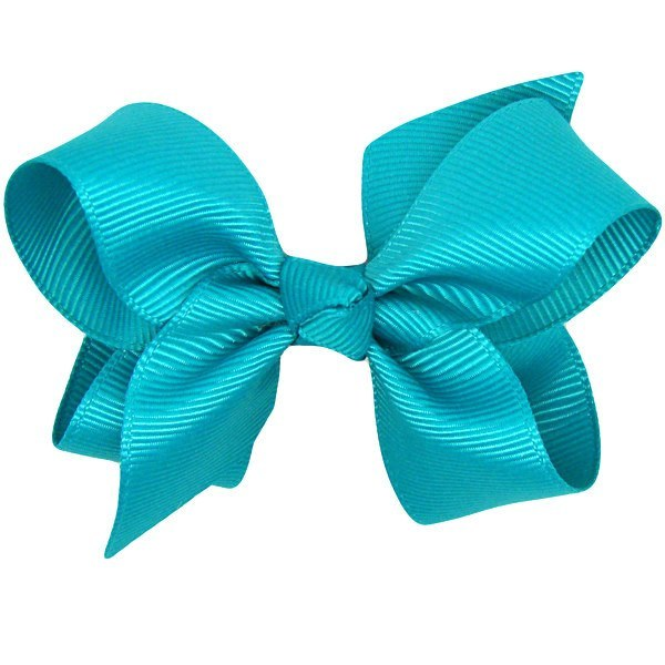 Calli turquoise baby bow non slip baby hair clip