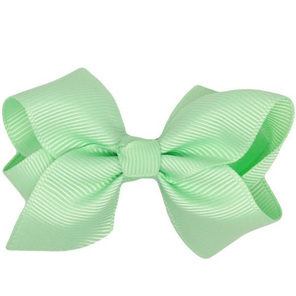 Dani mint green baby hair clip & hair bow