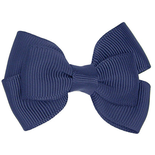 Elin Navy Mini Bow Clip for Babies | Non Slip Hair Clips