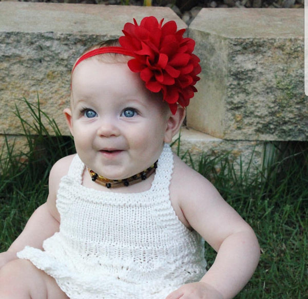 Blossom Red Baby Headband