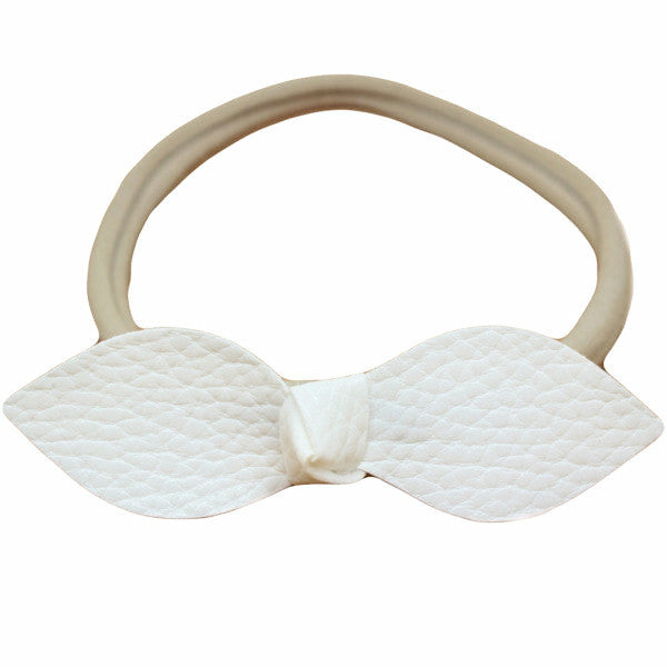 Faux Leather Teardrop Baby Headband