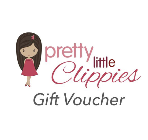 Gift card option for pretty bows baby headbands and girls hair clips