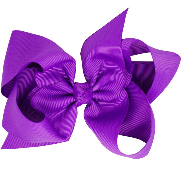 Everly medium bow clip in purple
