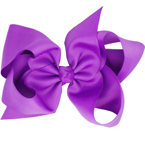 Grace Purple Big Bow Hair Clip & Accessory for Girls