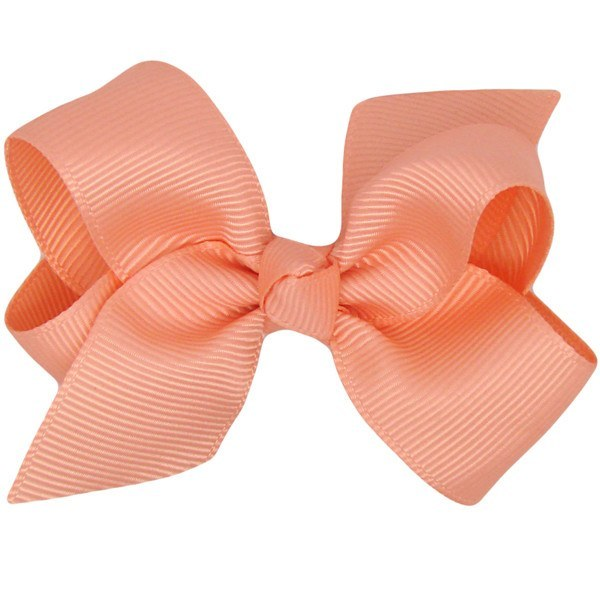 Hope pastel orange baby hair clip (by Pretty Little Clippies Australia)