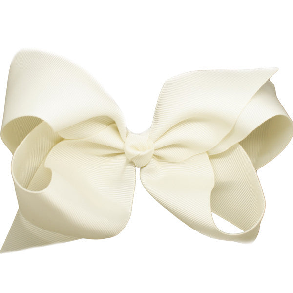 Danielle Ivory Medium Bow Clip | Hair Bows and Clips for Girls