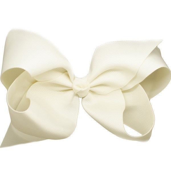 Hyacinth Ivory Big Bow Hair Clip for Girls