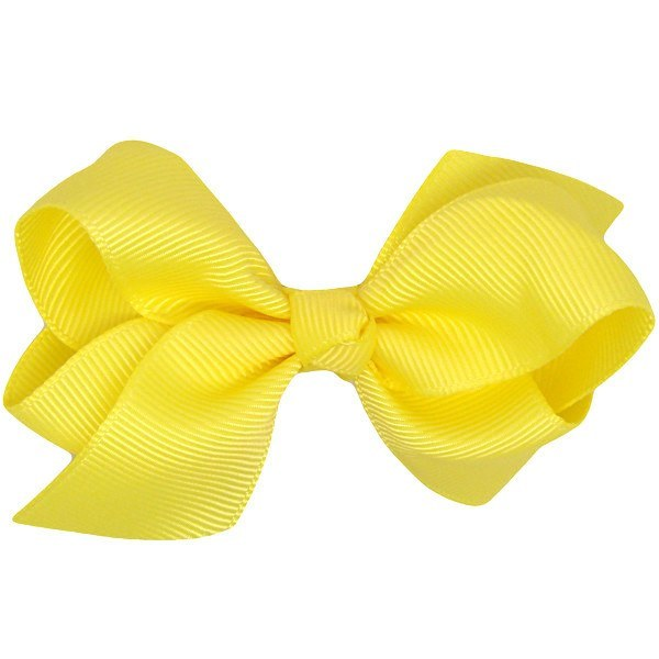 Indigo Yellow Baby Bow Ribbon Non Slip Baby Hair Clip