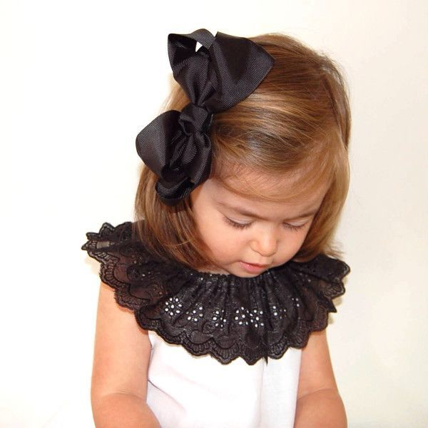 Misty Black Big Bow | Hair Clip for Toddlers & Girls