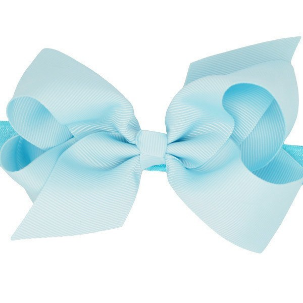 Joelle Medium Bow Baby Headband in Light Blue