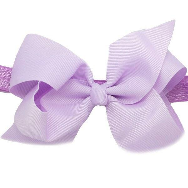Kaelyn Lilac Medium Bow Baby Headband for Baby Girls