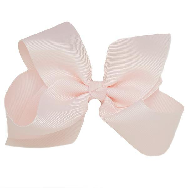 Lightest pink medium bow clip for girls