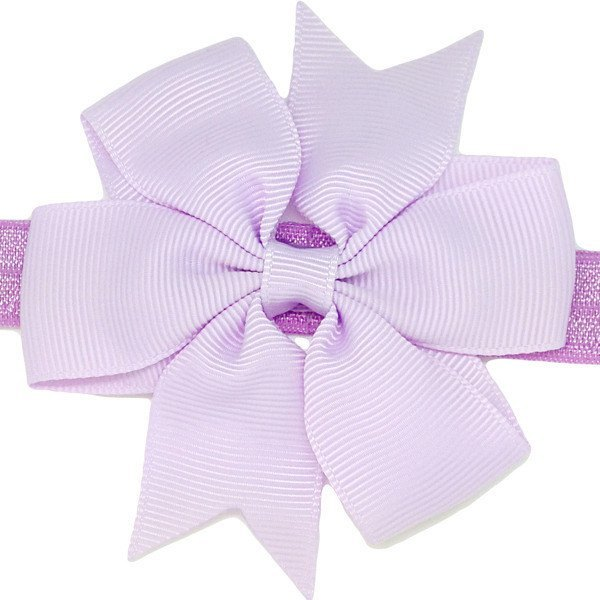 Angelina lilac newborn baby headband for baby girls