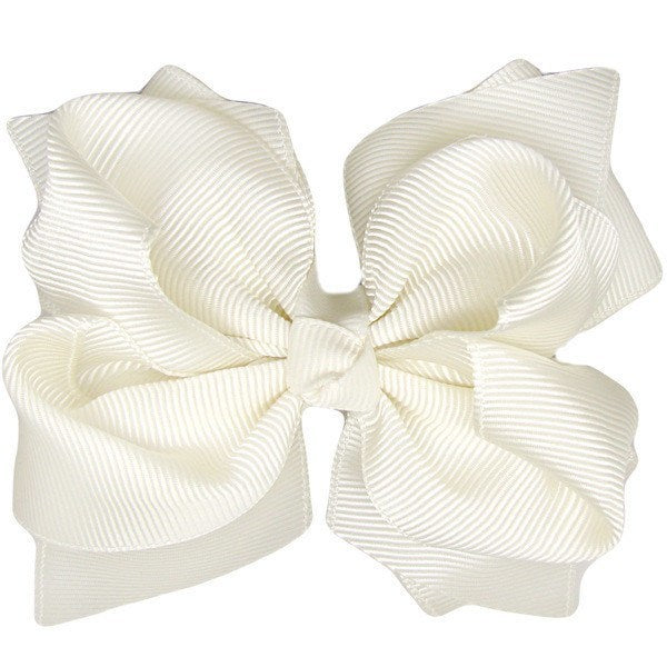 Emily Ivory Trixie Bow Baby Headband (by Pretty Little Clippies Australia)
