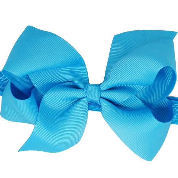 Lupita Medium Bow Baby Headband in Blue Bow for Babies