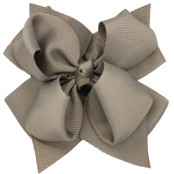 Madelyn Grey Trixie Bow Baby Headband for Newborn Babygirls