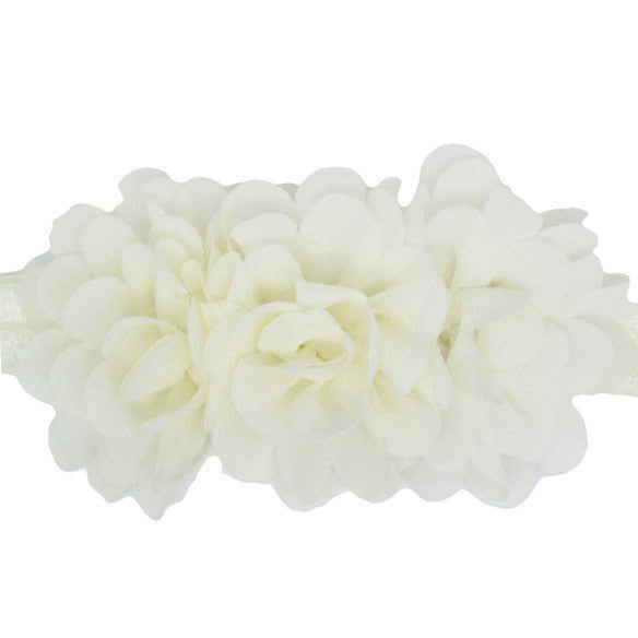 Millie Ivory special occasion chiffon flower baby headband