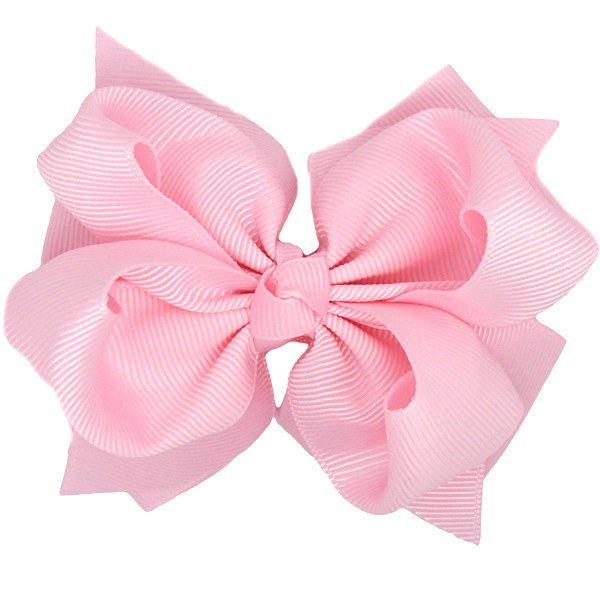 Monica Light Pink Trixie Bow Baby Headband & Newborn Hair Band