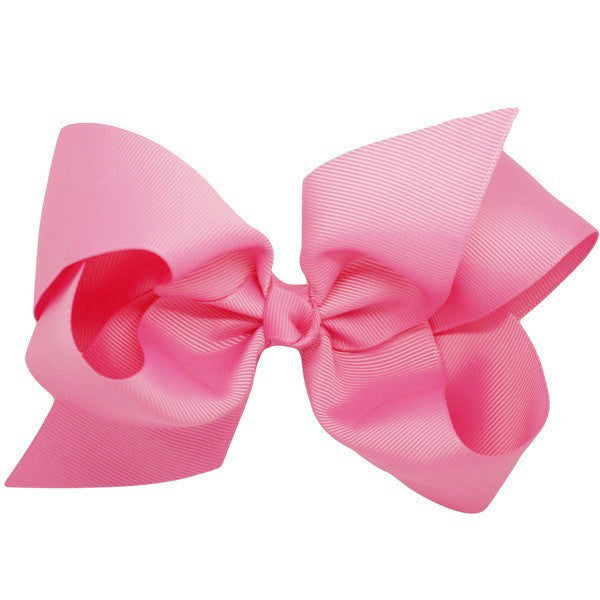 Amiyah Pink Big Bow Hair Clip by Pretty Little Clippies Australia