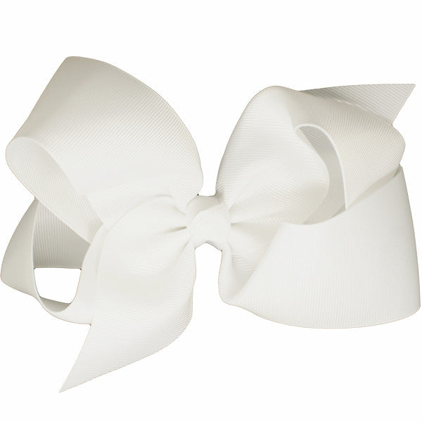 Veronica White Medium Hair Bow | Hair Clips and Accessories for Girls