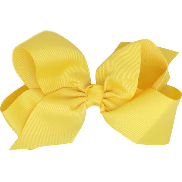 Tayissa Yellow Medium Hair Bow | Hair Clips and Accessories for Girls