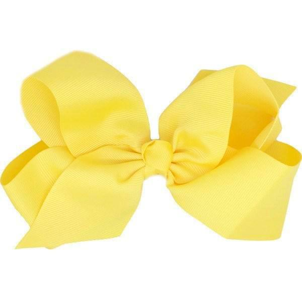 Hilaria Yellow Big Bow Clip | Girls Hair Accessories