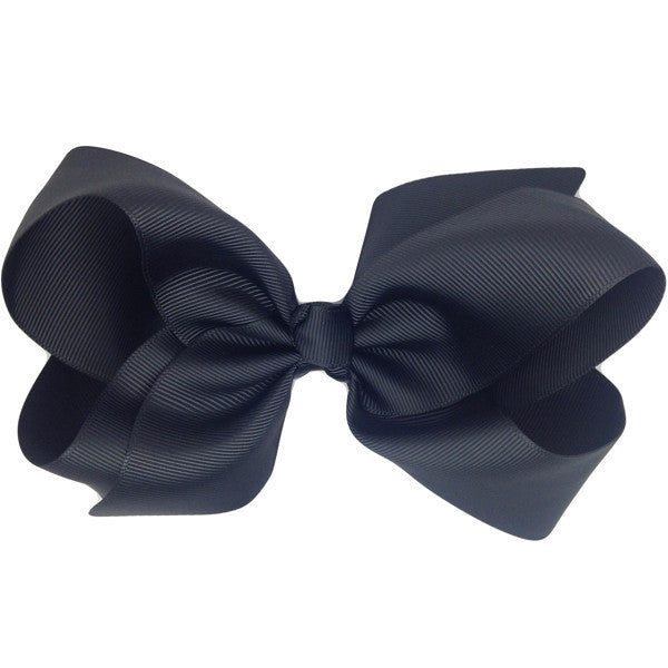Alice Black Medium Bow Clip | Hair Bows and Clips for Girls