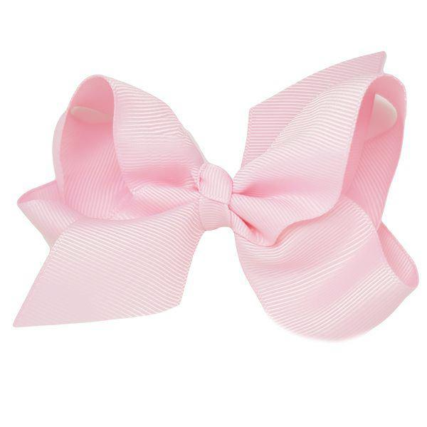 Pink medium bow clip for girls