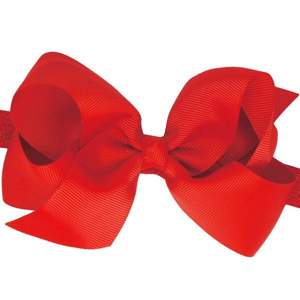 Pip Medium Red Bow Baby Headband for Baby Girls