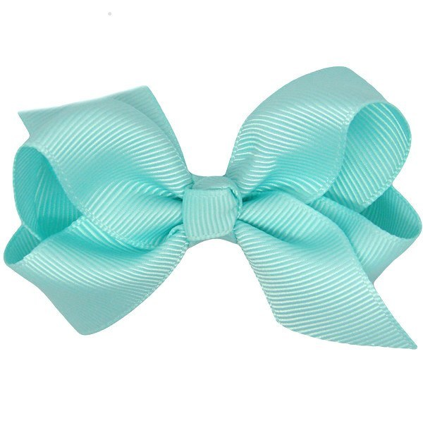 Rose Aqua Baby Bow Non Slip Hair Clip for Baby Girls
