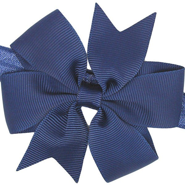 Ruby navy pinwheel baby headband