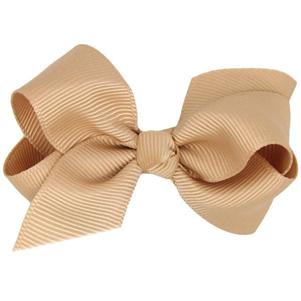 Salome Baby Bow Non Slip Baby Hair Clip in Tan
