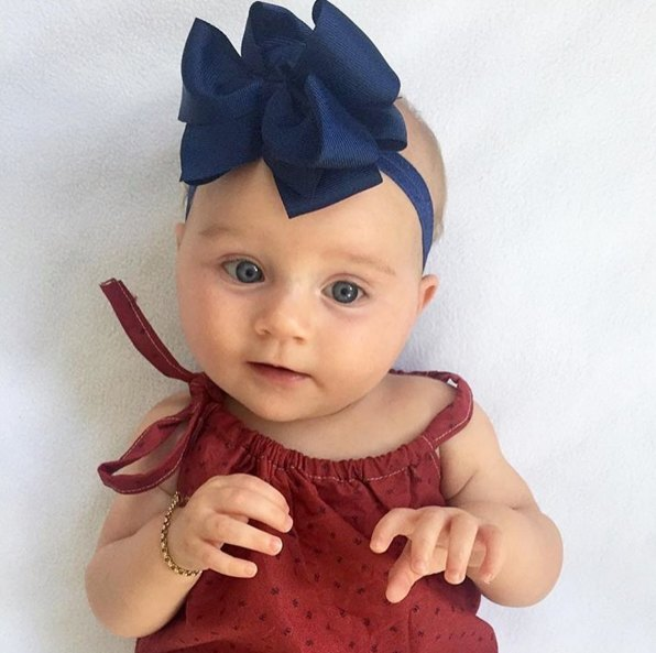 Anika navy Trixie Bow baby headband