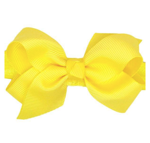 yellow bow baby headband